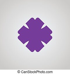 Cross square logo.