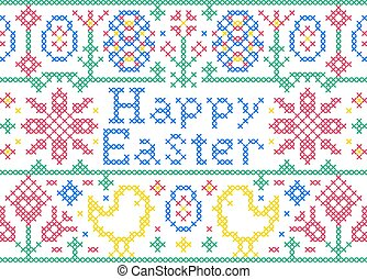 Cross stitch Easter card