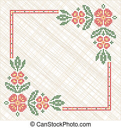 Cross-stitch embroidery in Ukrainian style - Cross-stitch...