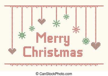 Cross-Stitch-Merry-Christmas