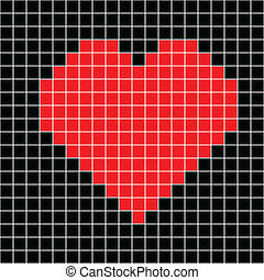 cross stitch red heart