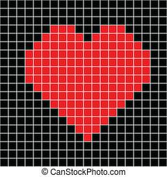 cross stitch red heart