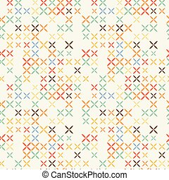 Cross stitch seamless pattern.