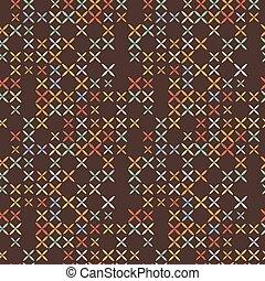 Cross stitch seamless pattern.