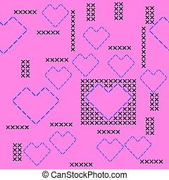 Cross Stitch Vector Pattern Seamless