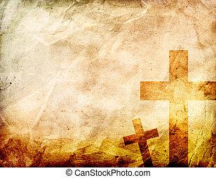 Cross on a grunge Background