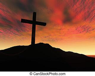 Cross - 3D Illustration. Symbol of Christianity.