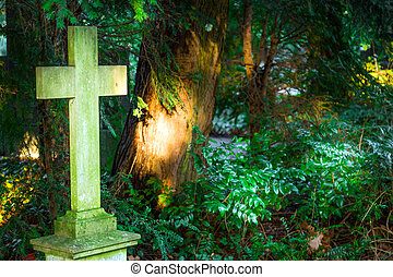Cross Stone in Christian Cemetery