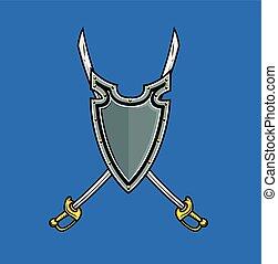 Cross Swords in Shield