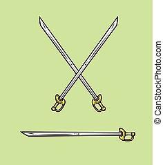 Cross Swords Vector