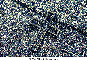 cross symbol in black and white
