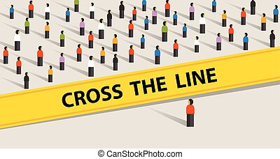 cross the line limit of social control group of society...