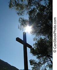 Cross - This is in Dro, Italy, near a road.