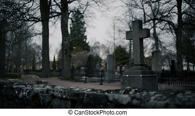 Cross Tombstone Cemetery - This classic cemetery is located...