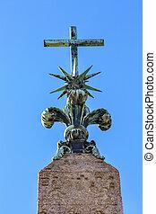 Cross Top Obelisk Sallustiano Trinita Dei Monti Spanish...