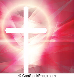 Cross vector abstract background concept template