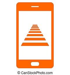 Cross walk and smartphone