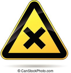 cross warning sign