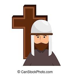 cross with prayer antique