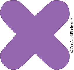 Cross with round edges icon