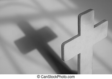 Cross with shadow: symbol of the Christian faith