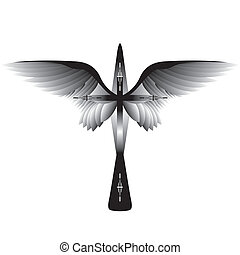 cross with wings