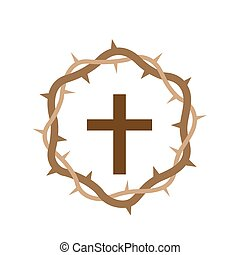 Cross with Wooden Crown