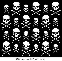 crossbones and skull pattern