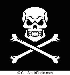 &, crossbones crânio