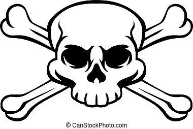 crossbones, giocondo, cranio, pirata, roger