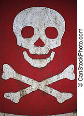 crossbones, simbolo, avvertimento, cranio