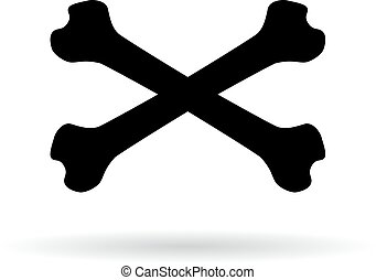 Crossbones vector pictogram