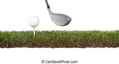 crosscut, verde, golfball