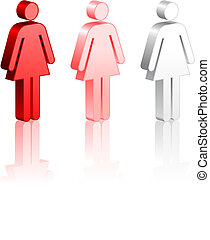 crosse, femme, figures