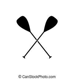 crossed boat oars