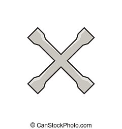 Crossed car wrench icon