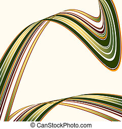 Crossed colorful deformed lines on a white background (...