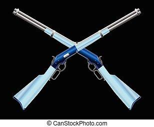Crossed Cowboy Rifles