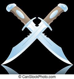 daggers vector illustration