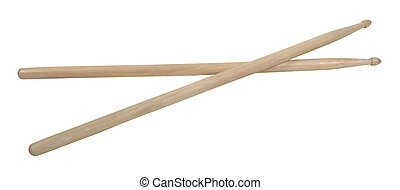 Crossed Drum Sticks - Crossed wooden drum sticks used to...