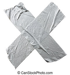 Crossed Duct Tape Strips - Crossed duct tape strips isolated...