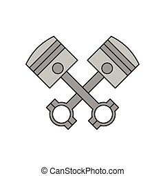 Crossed engine pistons icon