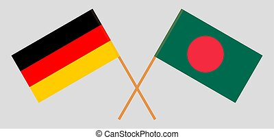 Crossed flags of Bangladesh and Germany