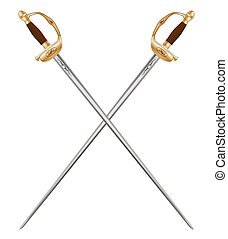 Crossed Infantry Swords - A crossed pair of French Infantry...