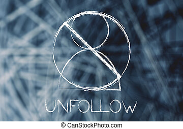 crossed out user icon getting unfollowed - unfollowing...