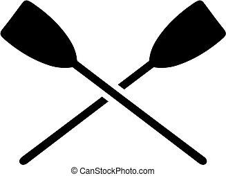 Crossed paddles