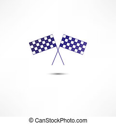 crossed racing flags icon