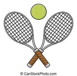 Crossed Racket And Tennis Ball