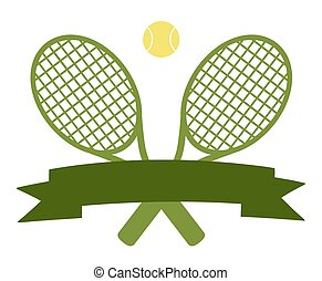 Tennis Ball Logo Design Green Label