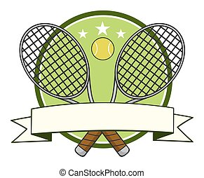 Tennis Ball Logo Design Label